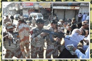 Pakistan Army kills unarmed Baloch civilian, sprays with bullets in front of their son