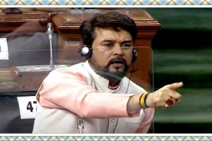 The row erupted when Union Minister Anurag Thakur spoke out in defence of the PM-CARES fund, which the opposition says lacks transparency.