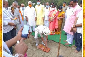 Indian Freedom Struggle a memorial's foundation stone was laid in memory of freedom fighter from BIJNORE district of Uttar Pradesh