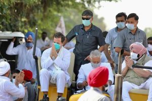 farm laws Rahul Gandhi in Punjab's Moga for tractor rally
